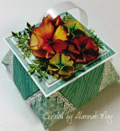 Origami Gift Box Teal & Orange